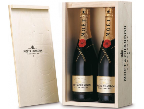 Moët & Chandon Brut Imperial Caja Madera 2 Botellas